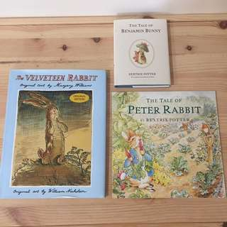Velveteen Rabbit, Peter Rabbit & Benjamin Bunny
