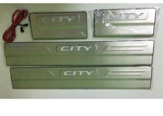 Kicking Plate Honda City 2014  stainless steel Oem led door sill scuff plate