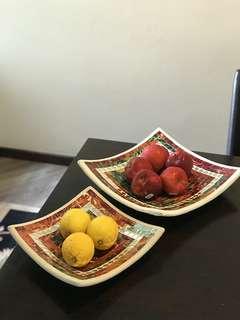 Persian Tile & Clay Square Bowls
