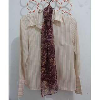 St. Yves shirt / blouse + Scarf