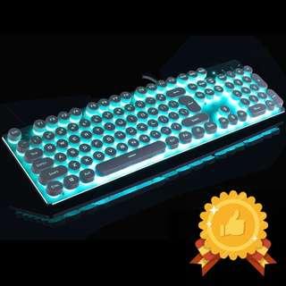 🚚 Semi-Mechanical Silver Mint Gaming Keyboard SE82