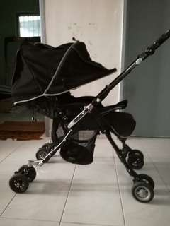 All Black Aprica Stroller