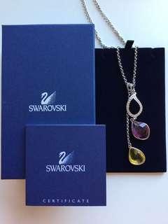 Beautiful Swarovski 38cm drop necklace