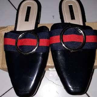 Sepatu slop wanit model jelly shoes ukuran 39