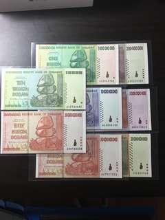 Zimbabwe million note