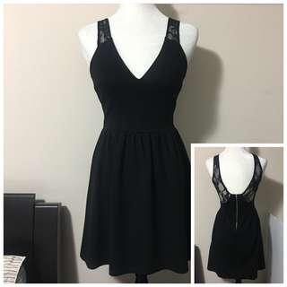 Zara S Little Black Dress with Crochet Lace