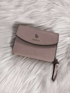 RRP $149 New Mimco Blush pink saffiano Leather Wallet
