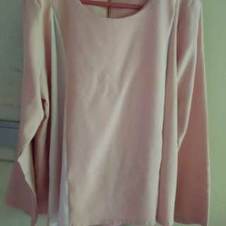 Atasan Blouse peach