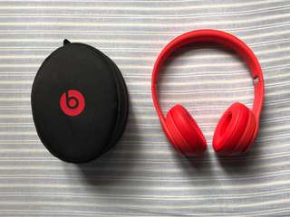 Beats Solo 3 Wireless, Citrus Red Headphone (Special Edition)