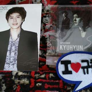 Official SMART / SUM Postcard + Super Junior Star Card Magnetic Card + I love KYUHYUN Hair Pin