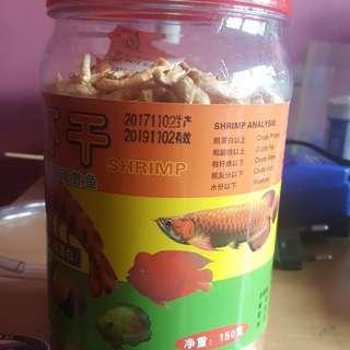 Dried shrimp for fish. Arowana, loa han