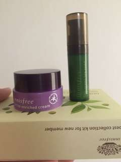 Innisfree trial kit greentea serum & orchid enrich cream