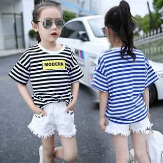 Striped Loose Casual Short-sleeved T-shirt