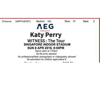 Katy Perry tickets - 1 pair