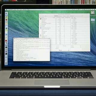 Mac book pro Retina..15inch 2.6GHz Intel Core i7 / 16GB RAM 1TB SSD