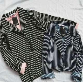 Zara Stripe Blazer Under 100rb