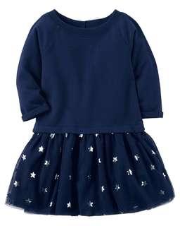 Carter's Navy Blue Star Tutu Dress