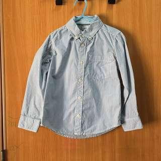 Boy's Striped Long Sleeved Shirt