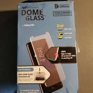 Whitestone Dome Glass Samsung S8Plus Glass Screen Protector