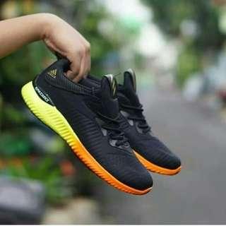Adidas alphabounce black yellow