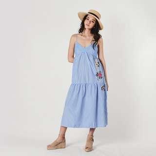 (PO) Diana Maxi Embroidery Dress