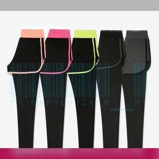 Yoga pants 運動褲/瑜珈褲假兩件