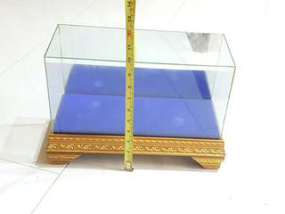 Wooden Display Alter showpiece stand with glass casing