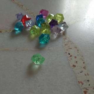 Tiny diamond charms perfect for slime!