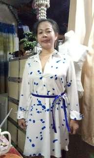 women's belted dress