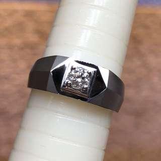 18kt diamond ring 六福