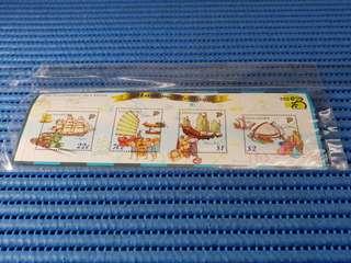 4X Singapore Miniature Sheet Marine Heritage The Flourishing Sea Trade Stamps