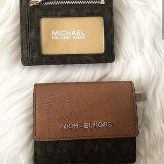 Authentic Michael Kors Jet Set Travel Card Case wallet