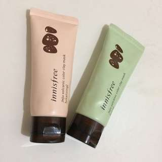 Innisfree Jeju Volcanic Color Clay Mask cica dan Vitalizing