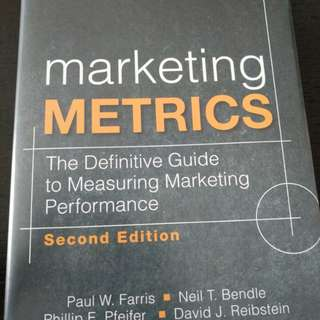 Marketing metrics  - Paul W. Farris