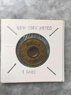 New York subway token
