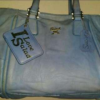 Salad Genuine Leather Bag + Free Tote Waterproof Bag
