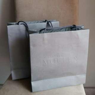 Alexander McQueen paper bag