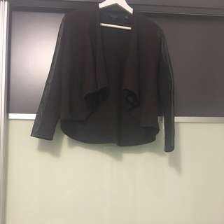 Ted Baker Wool Leather Blend Jacket 羊毛 皮 外套