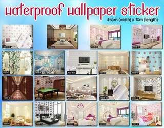 PVC Waterproof Wallpaper Sticker (45cm x 10meter)