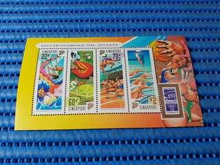 2X Singapore Miniature Sheet XXVITH Olympiad 1996, Atlanta Stamps