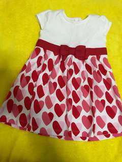 *24M* BNWOT Gymboree Hearts Dress For Baby Girl