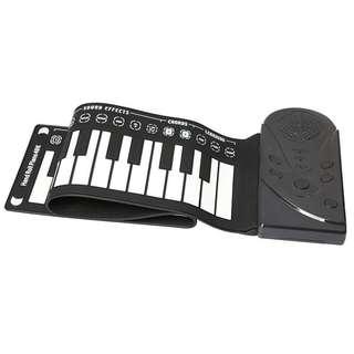 手卷電子琴 Roll Up Piano(可插耳筒同錄音再播返)