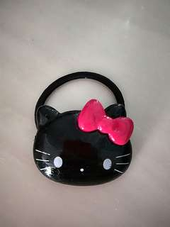 Big Black Hello Kitty Elastic Rubber Hair Tie