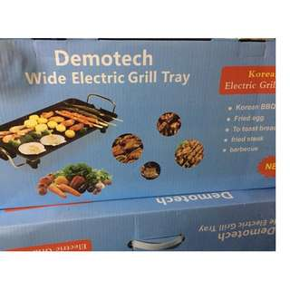 demotech wide electric grill tray