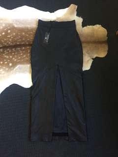 Leather Full Length Skirt
