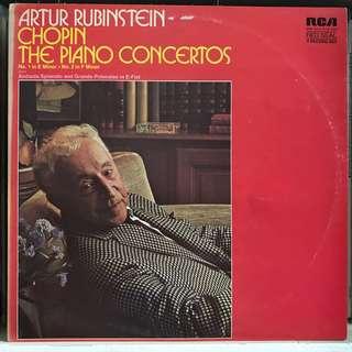 Chopin Piano Concerto 1 & 2 Artur Rubinstein RCA DPS 2034 2-LP album