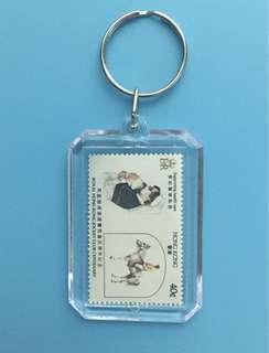 香港郵票匙扣買10送一。有多種郵票,大量的可議。