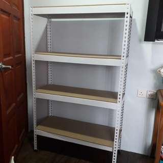 Bortless shelf rack