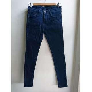 韓 素面顯瘦窄管褲