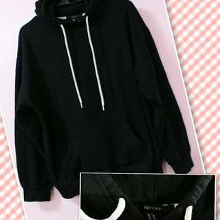 Forever21 Black hoody jacket